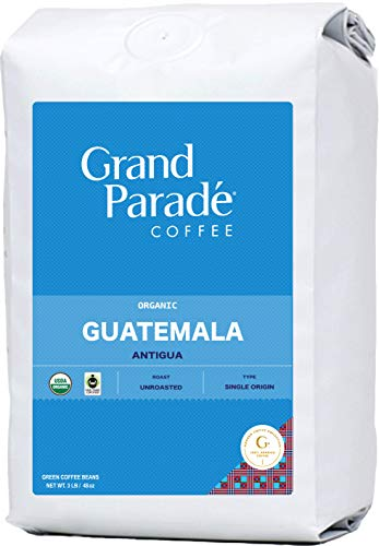 3 LB Unroasted Green Coffee Beans – Organic Guatemala Antigua High Altitude SHG EP Single Origin – Specialty Arabica of…