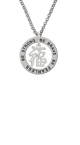 Amazon Silvertone Chinese Symbol Good Luck Be Strong