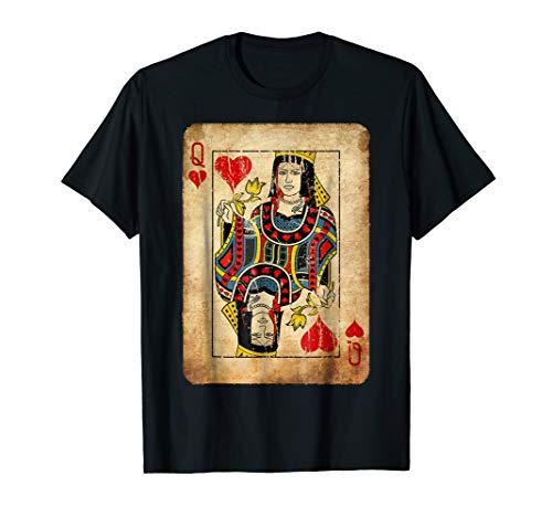 Queen Of Hearts Costume T-Shirt Halloween Deck of