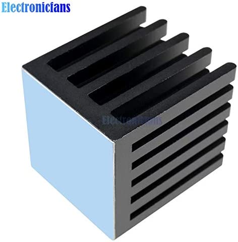 IC Heat Sink Aluminum 22X22X25MM 22x22x25MM Cooling Fin 3M8810 ADHESIVE Ponis-Limos