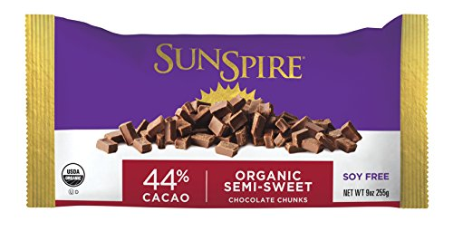 SunSpire Organic Fair Trade 44% Cacao Chocolate Chunks, 9 Ounce ()