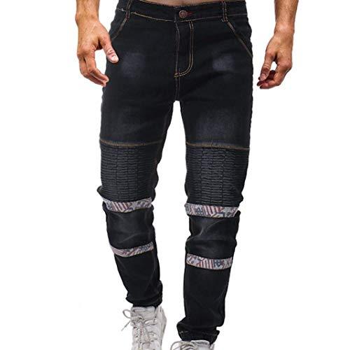 Classiche Ragazzi Pantaloni Uomini R Tether Degli Cotone Tasca Nero Elastico Pieghevole Stirata Casual Lavato Pantaloncini Di Modo Jeans Estate Rqpfx1wx