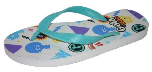 Gola Tado Design Women's Girls Flip Flops Sandal Pool Shoes Size 4-8 White/Blue/Pink