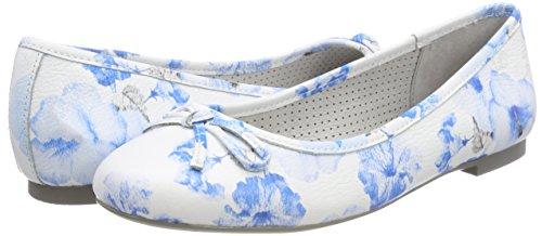 Be 22141 Femme Flower Natural blue Ballerines Bleu P6qrH7Pw