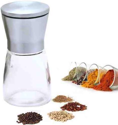Ajuste regulable de la finura En acero inoxidable y vidrio by TARGARIAN molinillo manual de sal y pimiento Moledor de sal y pimienta