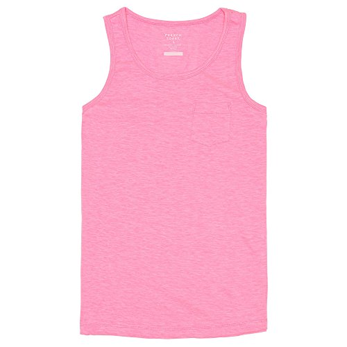 Little Girl Tank Top (French Toast Little Girls' Slub Pocket Tank, Pink Pizzazz, 5)