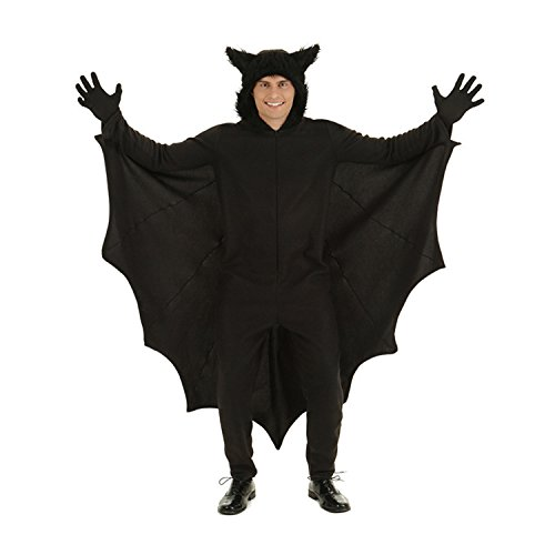 Halloween Bat Costumes for Men with Gloves and Connect Wing -