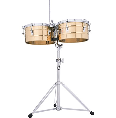 LP LP255-BZ Tito Puente 12'' and 13'' Bronze Timbales by Latin Percussion