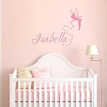 Amazon.com: Personalized Girls Name Wall Decal - Fairy wall ...
