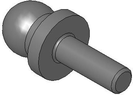 A .1250 B TCB-26805 Slip-Fit One-Piece Shoulder Tooling Ball .2500 Anwright Corp