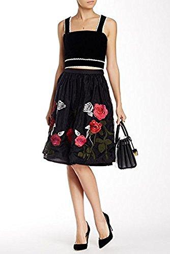 endless rose Women's Black Amour De Jardin Skirt (Medium)