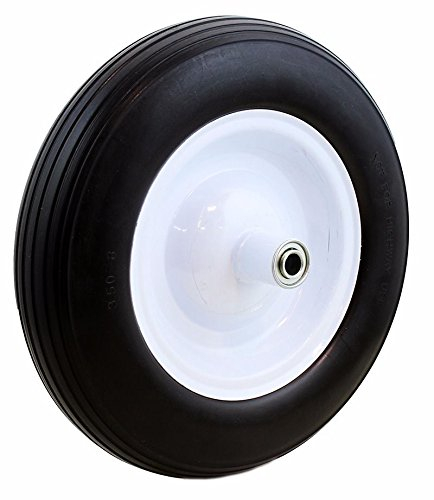 1Flat-Free-Tire-WheelBarrow-Tubeless-Ribbed-Wheel-barrow-350-8-Cart-Wagon-Tread