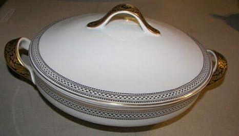 Vintage Krautheim Serving Bowl Gold Encrusted Rim  K /& A Selb Bavaria Germany PanchosPorch