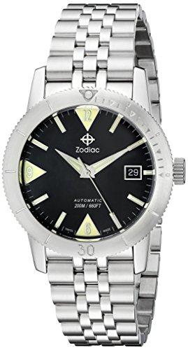 Zodiac Men's ZO9201 Heritage Analog Display Swiss Mechanical Automatic Stainless Watch