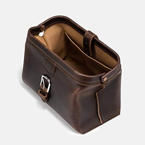Saddleback Leather Co. Expandable Full Grain Leather Quality Toiletry Travel Bag Dopp Kit Shower Bathroom Accessory Includes 100 Year Warranty by Saddleback Leather Co. (Image #3)