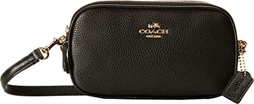 Coach Pebbled Leather Convertible Crossbody Pouch Clutch Purse Handbag ()