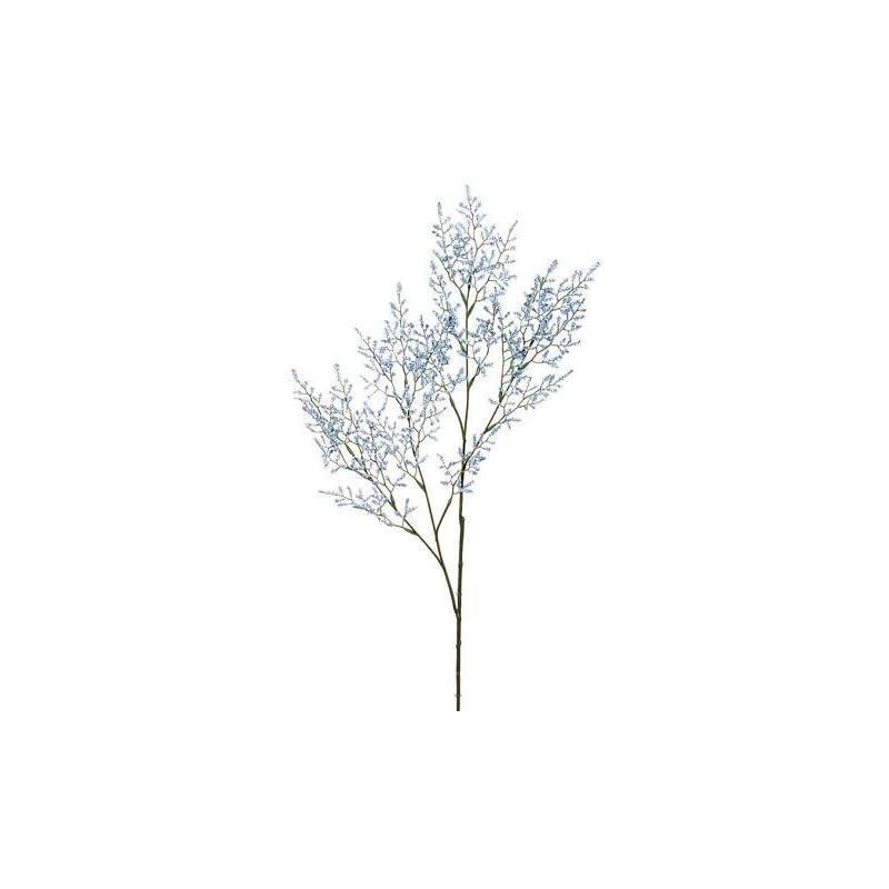 """silk flower arrangements artificial caspia flower spray in light blue - 29.5"""" tall - set of 4"""