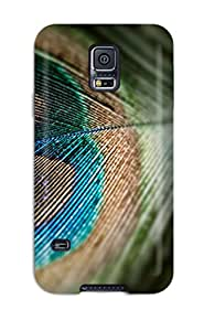 Protective Tpu Case With Fashion Design For Galaxy S5 (nice Peacock Feather )