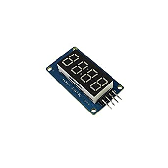 QX Electronics 5pcs TM1637 módulo de pantalla LED para Arduino 7 Segmento 4 Bits 0,