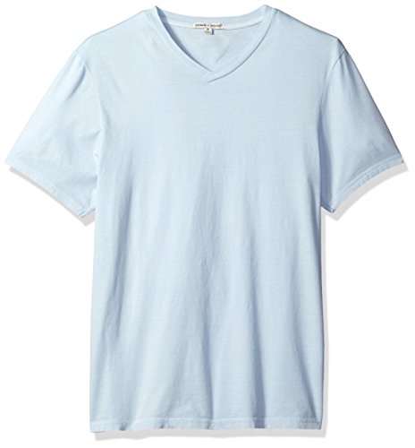 - Threads 4 Thought Men's Sustainable Organic Cotton V-Neck Tee, Ballad Blue, XX-Large
