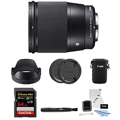 Sigma 16mm f/1.4 DC DN Contemporary Lens for Sony E-Mount with 64GB Extreme PRO Bundle (Sigma 19mm F2 8 E Mount Review)