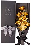 24k Gold Roses Bouquet, Gold Plated Rose 24k Gold