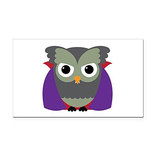 (Rectangle Car Magnet Spooky Little Owl Vampire Monster)