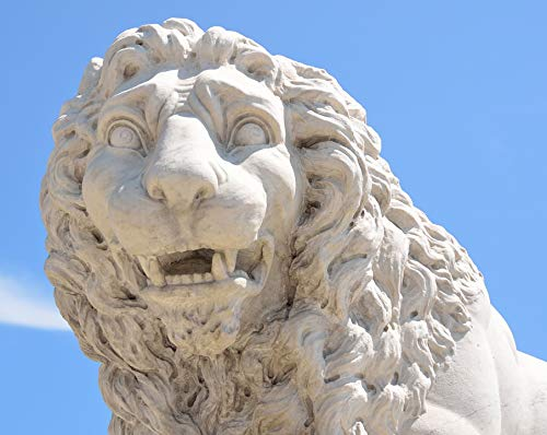Home Comforts Canvas Print Tourism Landmark Sculpture Bridge of Lions Lion Vivid Imagery Stretched Canvas 32 x 24