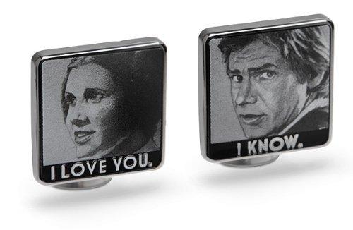 Lucas-Films-Star-Wars-Han-Leia-I-Love-You-I-Know-Cufflinks-LIMITED-ED
