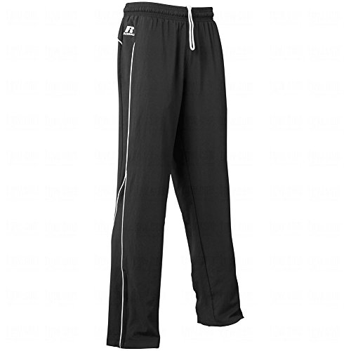 Mens Russell Athletic Sweatpants (RU MENS TEAM PRESTIGE POLY PNT (BLACK/WHITE) (M))