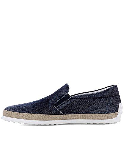 Tods Slip On Sneakers Uomo XXM0TV0Y091JDLU808 Tessuto Blu