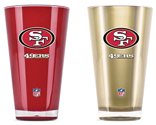 (NFL San Francisco 49Ers 20oz Insulated Acrylic Tumbler Set of 2)