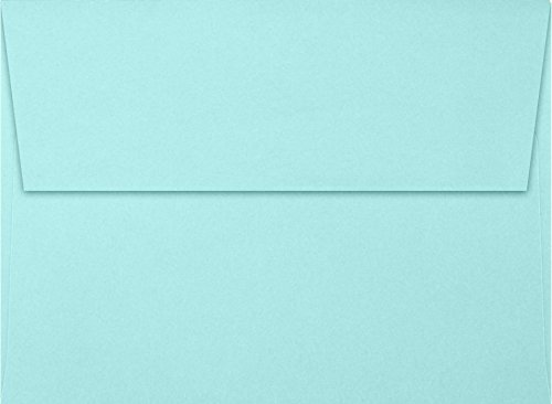 A7 Invitation Envelopes w/Peel & Press (5 1/4 x 7 1/4) - Seafoam Blue (50 Qty) | Perfect for Invitations, Announcements, Sending Cards, 5x7 Photos | Printable | 80lb Paper | LUX-4880-113-50