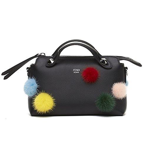 Fendi Leather Boston Handbag
