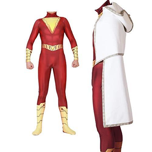 Superhero Costume Full Set Captain Zentai Masquerade Cosplay Bodysuit with Cloak L]()