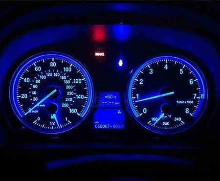 BlyilyB 20-Pack BA9 BA9S 53 57 1895 64111 Blue LED Car Light Bulb for License Plate Side Door Courtesy Interior Dome Map Lights