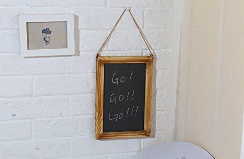 Wooden Framed Chalkboard Sign - Decorative Hanging Slate Chalk Board ...