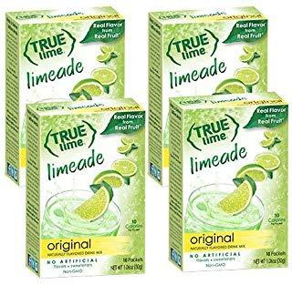 True Lime LIMEADE (Pack of 4) 10ct each box. True Lemon | True Citrus by True Citrus