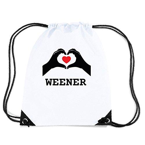 JOllify WEENER Turnbeutel Tasche GYM1840 Design: Hände Herz 2DOPEWzG
