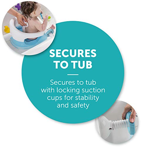 Summer Infant My Bath Seat, Baby Bathtub Seat for Sit-Up Bathing with Backrest Support and Suction Cups for Stability