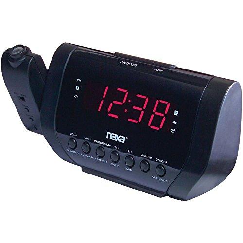 Esaska(TM) BRAND NEW - Naxa Nrc-173 Projection Dual Alarm Clock