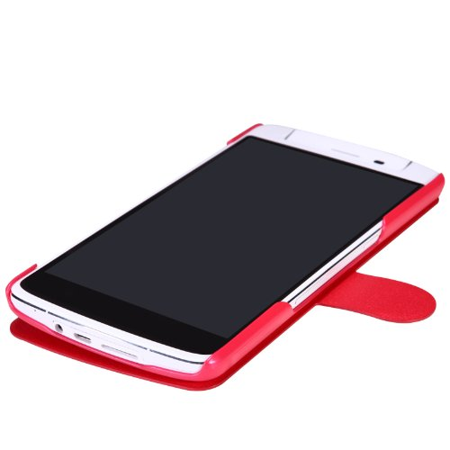 VSTN® Oppo Fresh series style Ultra-Thin PU Leather Case (For Oppo N1, Red)