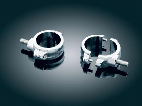 (Kuryakyn 2275 54mm-58mm 2-Piece Fork Mounts For Harley-Davidson Inverted Forks)