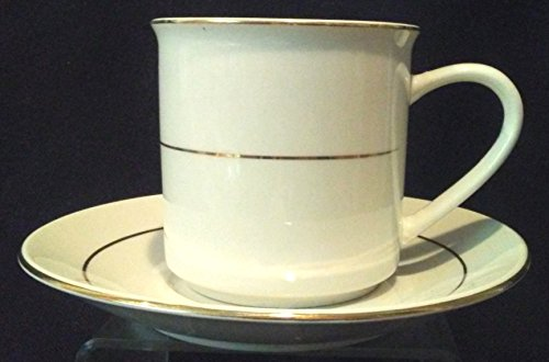 Gibson Everyday Gold Prestige Cup and Saucer, 3-1/8