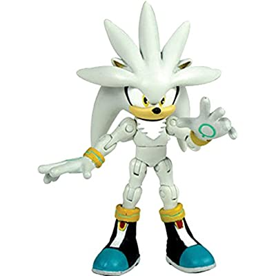 "Sonic 6"" Super Poser Silver Action Figure: Toys & Games"
