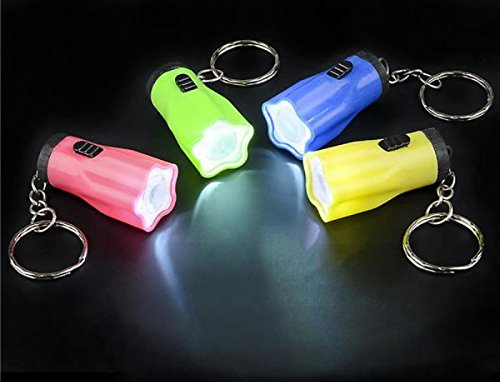 DISCOUNT PARTY AND NOVELTY 100 Star Mini Flashlight Key Chains -