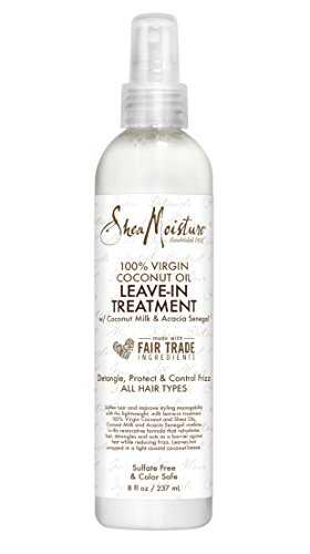 SheaMoisture 100% Virgin Coconut Oil Leave-in Treatment, 8 Ounce
