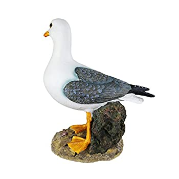 Danmu 1pc Polyresin Standing Seagull Statue Indoor Outdoor Decor (Style 2)