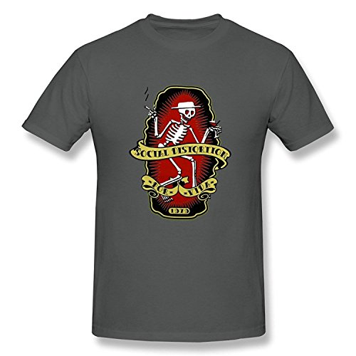 WunoD Men's Social Distortion T-shirt Size (Social Distortion Guitar)