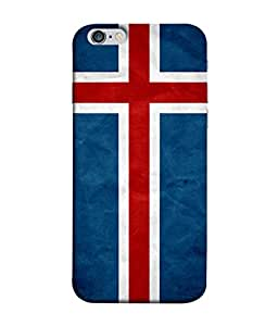 ColorKing Football Iceland 01 Blue shell case cover for Apple iphone 6 / 6s